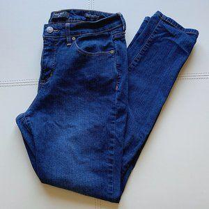 Petite Cigarette Mid-Rise Skinny Dark Blue Jeans